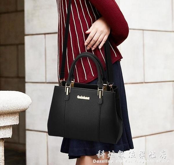 新款女包兩用媽媽手提包中年女士小包簡約手拎單肩斜背包皮包包 聖誕節免運