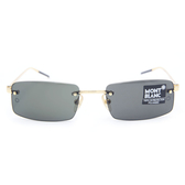 MONTBLANC 萬寶龍眼鏡 MB56S G17 (金) 商務無框 偏光太陽眼鏡 久必大眼鏡
