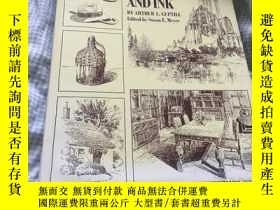 二手書博民逛書店Rendering罕見with Pen and Ink 建築設計