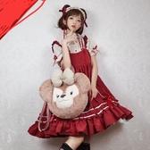 洛麗塔洋裝連身裙日系蘿莉寬松【步行者戶外生活館】