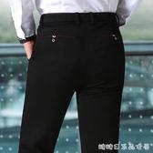 春季男士商務休閒褲修身韓版潮流小腳西裝褲彈力工裝黑色長褲子男 糖糖日系森女屋