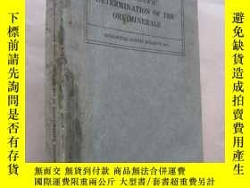 二手書博民逛書店MICROSCOPIC罕見DETERMINATION OF TH