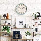 北歐塑料掛鐘現代簡約歐式大氣靜音掛錶臥室掛鐘 GY1379『時尚玩家』