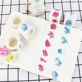 【BlueCat】原創玫瑰仙鶴系列清新和紙膠帶
