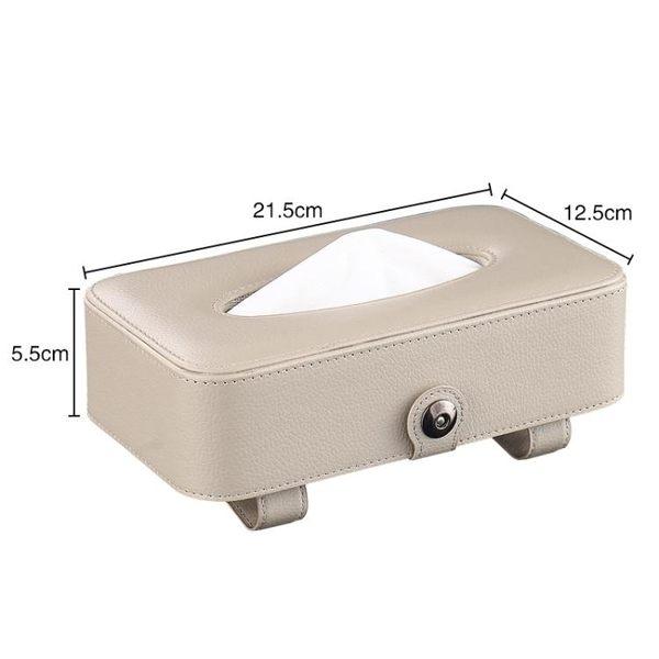 車載紙巾盒掛式掛遮陽板掛天窗車用紙巾盒車載紙抽盒 預購商品