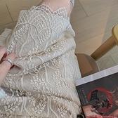 針織半身裙 針織半身裙女秋冬不規則蕾絲邊兩面穿a字氣質毛線復古包臀中長裙【風之海】
