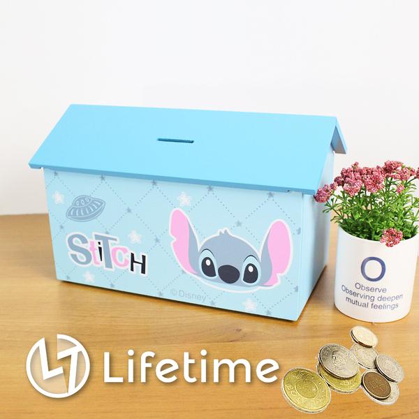 ﹝史迪奇房屋造型存錢收納盒﹞正版存錢盒 置物盒 小費箱 迪士尼〖LifeTime一生流行館〗C03078