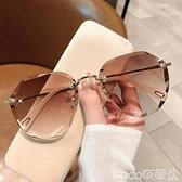 熱賣墨鏡女ins2021年新款圓臉韓版潮時尚太陽眼鏡防紫外線大臉顯瘦 【618 狂歡】