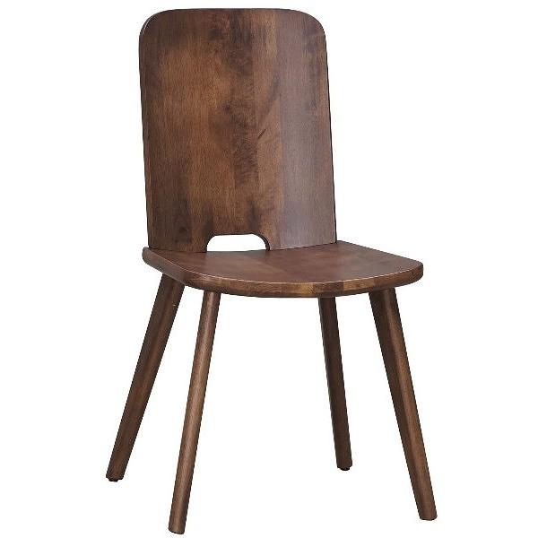 餐椅 AM-503-2 喬克胡桃色實木餐椅【大眾家居舘】