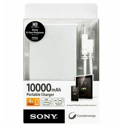 新竹【超人3C】SONY 10000 行動電源 日本原廠輕薄大容量設計 隨附 Micro-USB 傳輸線 KT#PWMPSNCP-F10L