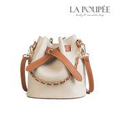 側背包 時尚撞色百搭小水桶包/子母包 4色 -La Poupee樂芙比質感包飾 (現貨+預購)