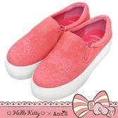 HELLO KITTY X Ann'S 花園系列牛仔布厚底懶人鞋-粉