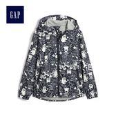 Gap男童 童趣創意印花連帽外套 495678-正黑色