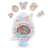〔小禮堂〕雙子星 造型貼紙組《藍.聖代紙卡.櫻桃.星星》水果文具系列 4901610-79369