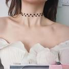 項鍊水晶鎖骨項鍊短款頸帶choker項圈頸項鍊脖子飾品韓國個性潮人簡約百搭