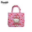 【正版授權】凱蒂貓 花冠系列 刺繡 手提袋 便當袋 Hello Kitty 三麗鷗 Sanrio - 129359