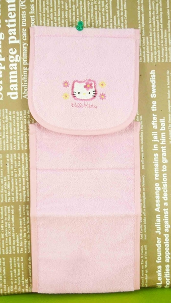 【震撼精品百貨】Hello Kitty 凱蒂貓~捲筒面紙套-粉花【共1款】