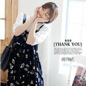 *桐心媽咪.孕婦裝*【CC0523】俏麗風格.兩件式吊帶裙-黑白配
