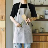圍裙圍裙全棉防水廚房奶茶咖啡店餐廳美甲正韓時尚工作服男女 快速出貨