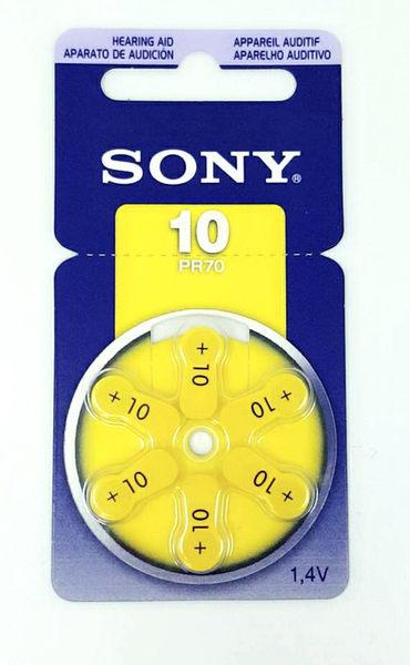 [ 中將3C ]  SONY 助聽器電池 PR70 (10) 6顆裝 ZA-10-AS