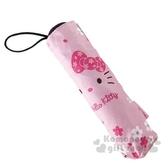 〔小禮堂〕Hello Kitty 抗UV折疊雨陽傘《粉.大臉櫻花》折傘.雨傘.雨具 4713304-52192