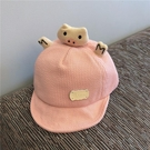 兒童遮陽帽 嬰兒帽子春秋薄款寶寶鴨舌帽遮陽防曬嬰幼兒童棒球帽可愛超萌夏潮-Ballet朵朵
