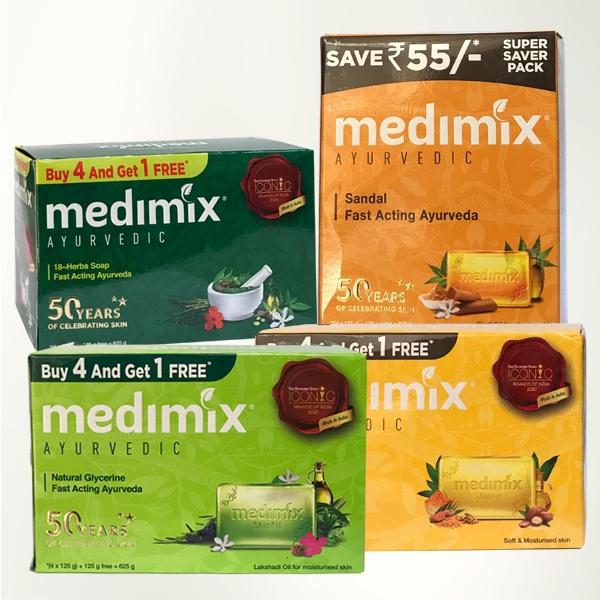 印度 Medimix 美膚皂 125gx5入 款式可選 草本美肌皂 香皂 內銷版量販裝【PQ 美妝】