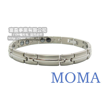 【MOMA】系列純鈦鍺磁手鍊-TB-05窄版