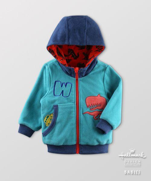 Hallmark Babies秋冬搖粒絨雙面連帽長袖外套HF3-R02-01-KB-DT