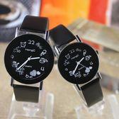 正韓復古帶簡約學生手錶時尚石英男錶女錶情侶錶WY