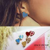 耳針耳夾 Space Picnic|預購.金屬愛心造型設計耳針/耳夾【C18104004】