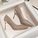 高跟鞋設計感小眾氣質女細跟網美高跟涼鞋兩穿婚鞋【慢客生活】