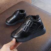 兒童短靴子冬季新款保暖童鞋寶寶雪地靴男童皮靴女童加絨棉靴  小時光生活館