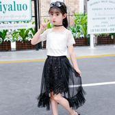 洋裝 女童洋裝夏季2018新款兒童短袖禮服公主裙小女孩洋氣紗裙中大童 芭蕾朵朵
