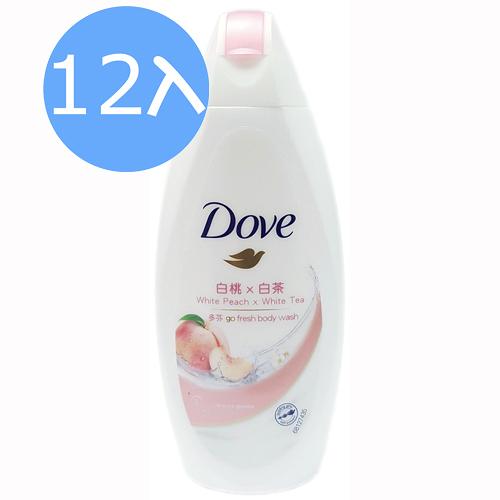 Dove 多芬 桃悦水透清潤沐浴乳 (白桃+白茶) 200gX 12入