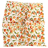 Sybilla 棉花圖案純綿帕領巾(橙色)989164-89