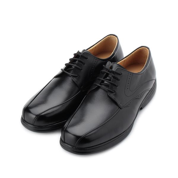 BONJO 彈力輕量休閒皮鞋 黑 男鞋 鞋全家福