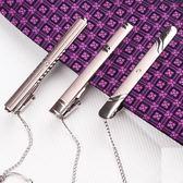 (百貨週年慶)領帶夾商務簡約合金銀色職業裝領帶夾子男士正裝歐美韓版領夾結婚開會議領帶夾