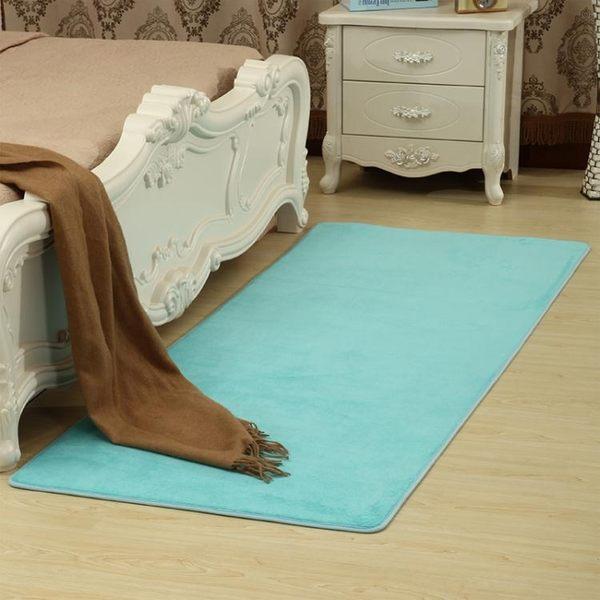 珊瑚絨地毯客廳茶幾沙發家用房間臥室床邊滿鋪榻榻米簡約現代地毯虧本60*160公分11色 快速出貨