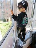 秋季1-2-3-4歲寶寶打底衫男童長袖韓版字母上衣百搭衛衣T恤潮【時尚家居館】