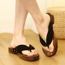 夾腳拖鞋 日本日式木拖鞋男cos木屐鞋人字拖厚底和風中國風和風高跟中式