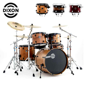 DIXON 嚴選櫻桃木Demon 懸吊式爵士鼓組-含支架/踏板/鼓椅/鼓棒(不含銅拔)