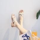 涼鞋夏季女百搭舒適軟底懶人涼拖鞋【慢客生活】