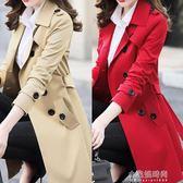 春秋季女裝韓版修身小個子風衣女大碼中長款chic大衣外套『小宅妮時尚』