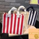 大容量手提包女帆布環保防水便攜買菜包【小獅子】