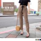《BA5727》輕薄涼感鬆緊腰黑色綁帶寬版老爺褲 OrangeBear
