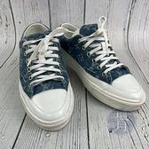 BRAND楓月 LOUIS VUITTON LV 路易威登 LOGO牛仔帆布鞋 #37 丹寧 原花 休閒鞋 板鞋 百搭