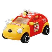 〔小禮堂〕迪士尼 小熊維尼 TOMICA小汽車《DMA-02.黃紅》10週年紀念.公仔.模型.玩具 4904810-12954