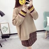 針織衫-半高領時尚不規則衣襬寬鬆女毛衣3色73tp23【巴黎精品】