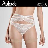 Aubade-冰火S-M繃帶蕾絲吊襪帶(白)NC